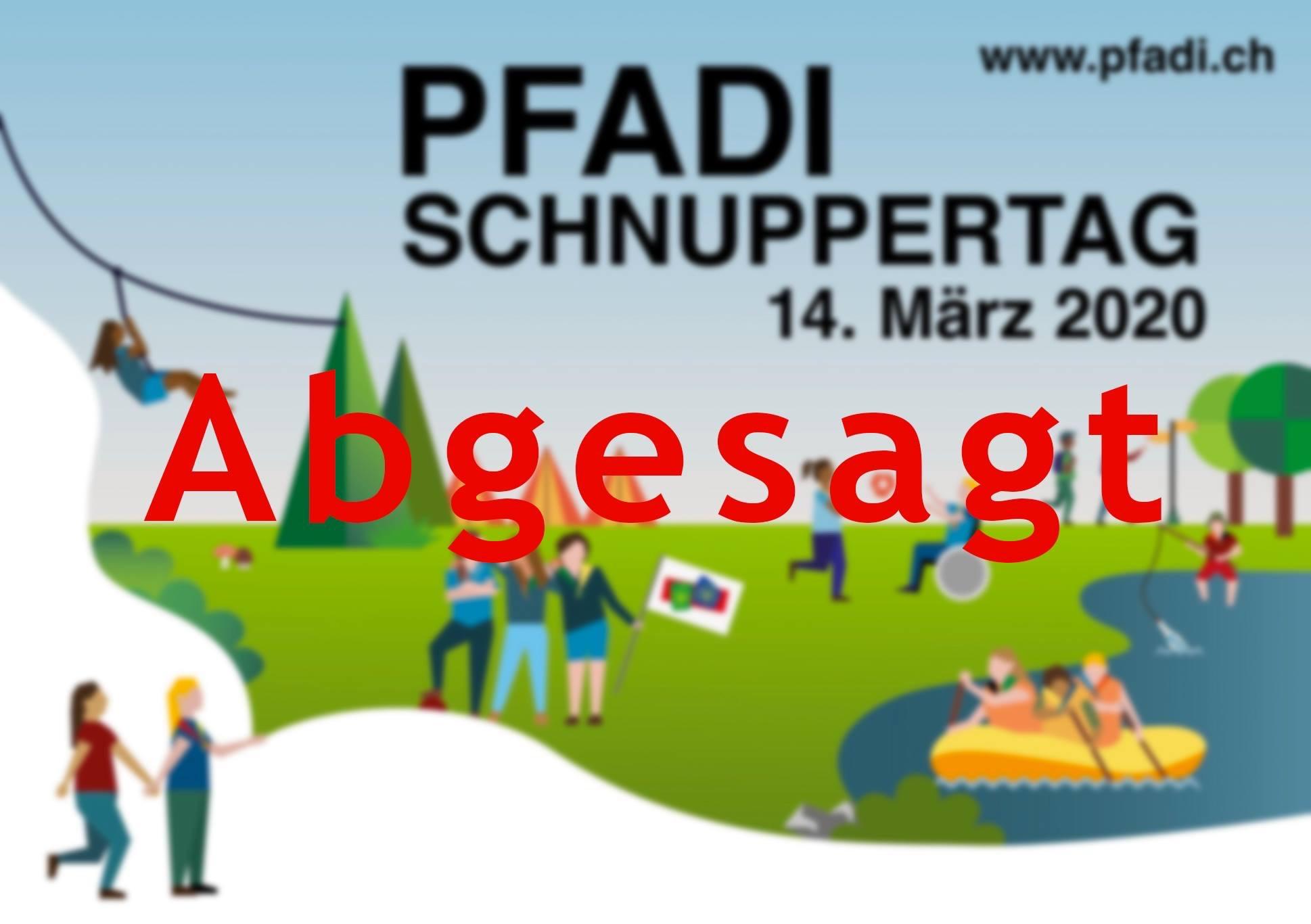 Schnuppertag Pfadi Schwyz 2020 ABGESAGT